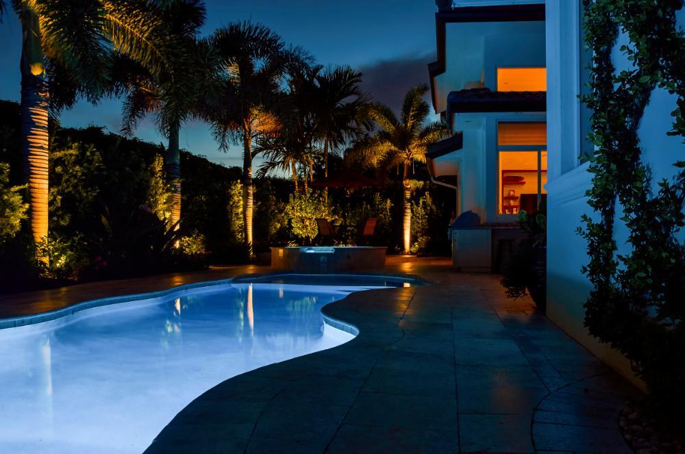 Gorgeous Swimming Pool At Night