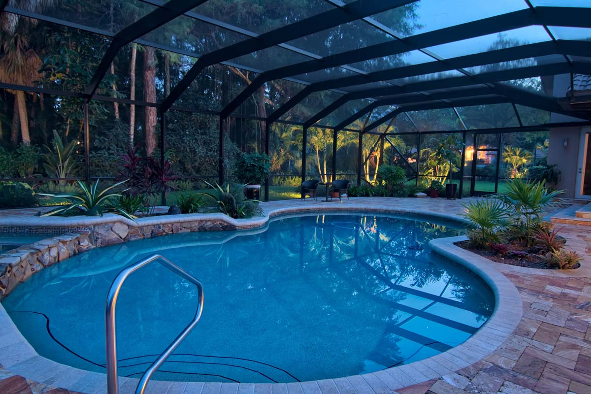 Pool with A Glass Roof